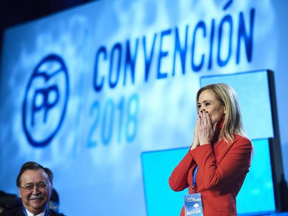 Madrid regional leader Cristina Cifuentes at the PP convention on Saturday.