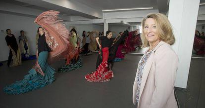 Cristina Heeren at the new school.