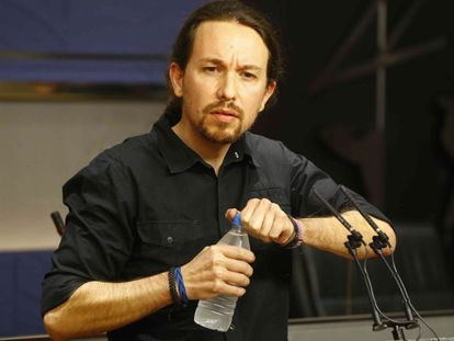 Pablo Iglesias says that Podemos will never enter into a coalition government with Ciudadanos.