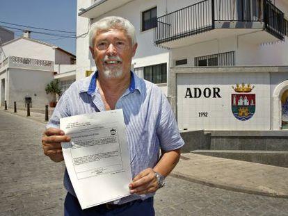 The mayor of Ador, Joan Faus.