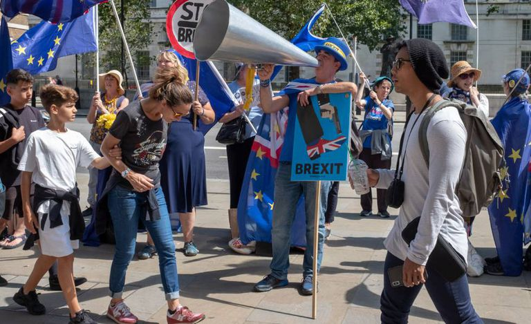 Protest against Brexit in London.