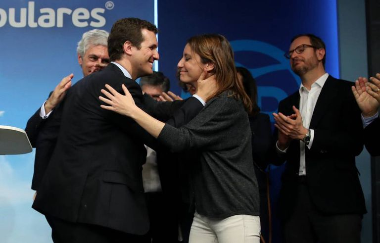 Pablo Casado after the general election on Sunday.