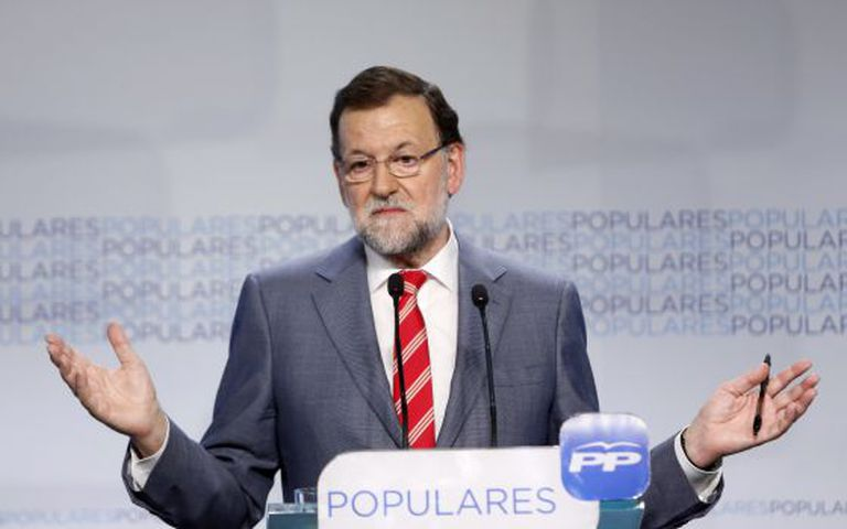 Prime Minister Mariano Rajoy during Monday's press conference in Madrid.
