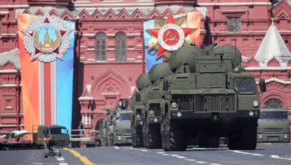 A 2018 military parade in Moscow.
