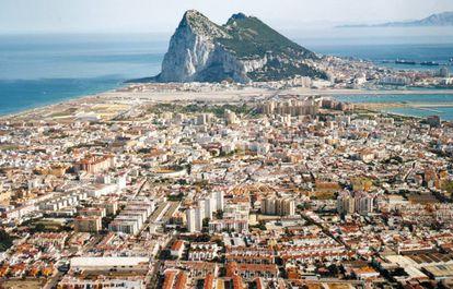 La Línea de la Concepción with Gibraltar in the background.
