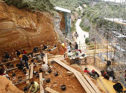 A file photo of a dig at Atapuerca in July 2007.