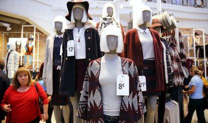 Mannequins at Primark's flagship store on Gran Vía in Madrid.
