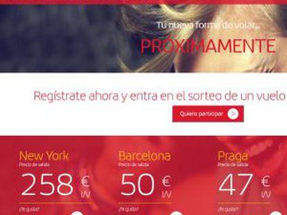 Iberia's new online ticket auction site.