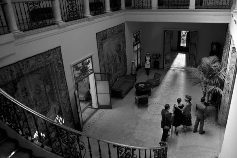 The hall of Muñoz Ramonet's Barcelona palace, as seen during the shooting of the film 'Blancanieves'.