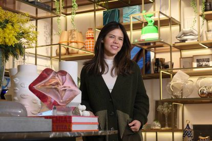 Kika Payares, a partner in the InCasa interiors shop in the Salamanca district of Madrid.