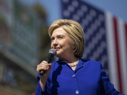 Presumptive Democratic nominee Hillary Clinton in Los Angeles, California.