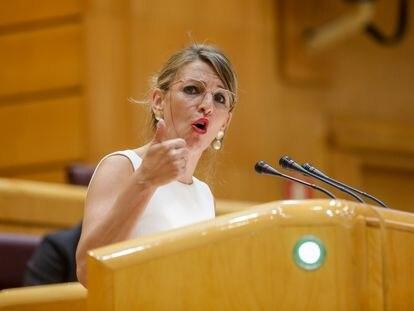 Labor Minister Yolanda Díaz on Tuesday.