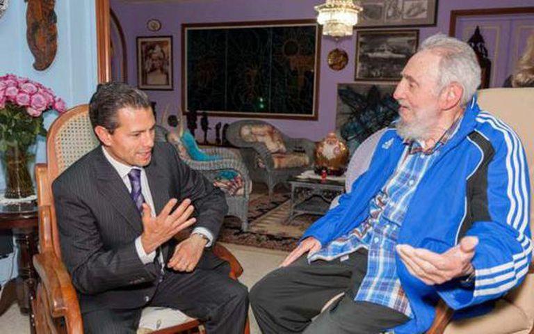 Peña Nieto and Fidel Castro.