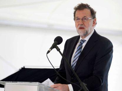 Mariano Rajoy in Tenerife on Saturday.