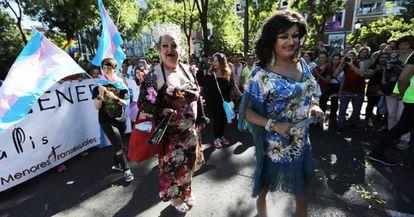 Participants at the Word Pride Madrid 2017 parade.