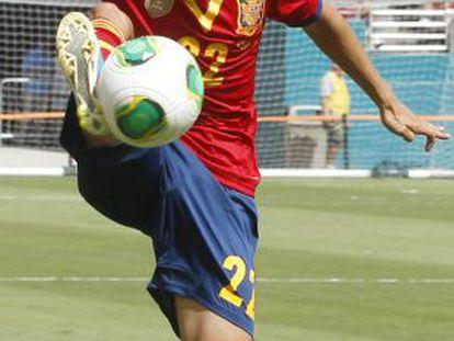 Jesús Navas in action for Spain last Saturday.