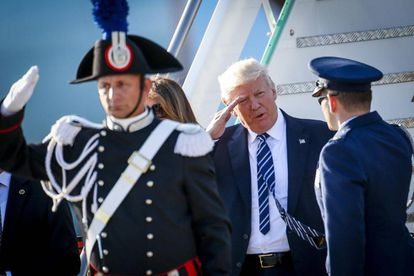 Trump arrives in Rome on Tuesday.