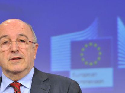 EU commissioner for Competition Joaquín Almunia gives a news conference on Thursday on state aid for Spanish banks.