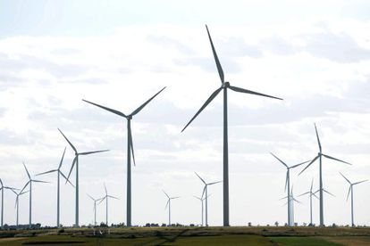 A wind farm in Valladolid province.