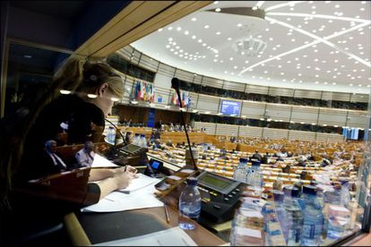 The team of interpreters at the European Parliament have to deal with the demands of 23 languages on a daily basis.