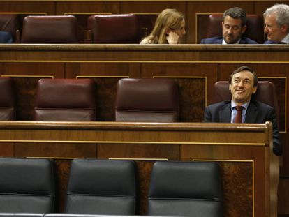Empty PP seats in Spanish Congress on Tuesday.