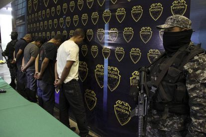 Archive image of Jalisco drug cartel members.