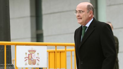 Colonel Diego Pérez de los Cobos after testifying in court over the Catalan independence referendum of October 2017.