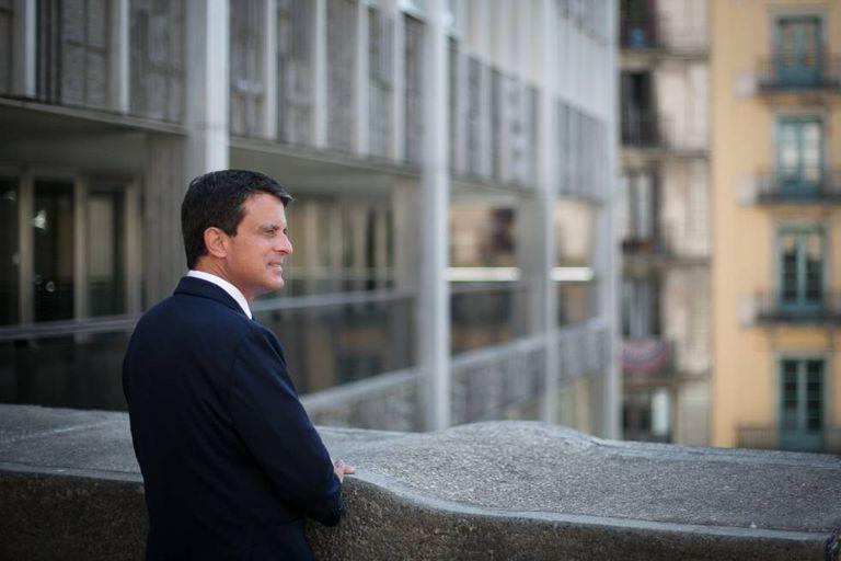 Manuel Valls in Barcelona.