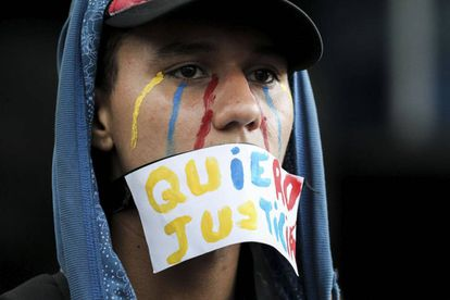 A protester at a march against the government held in Caracas on July 31.