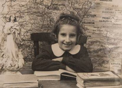 Anna Maria, in a school photo from Barcelona.