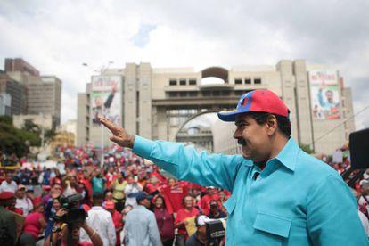 Venezuela's President Nicolás Maduro announces the state of emergency on Friday.