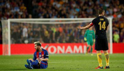 Messi last night at Barcelona's Camp Nou.