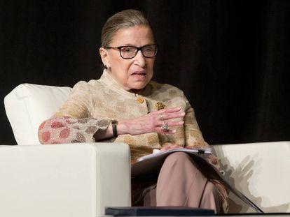 Judge Ruth Ginsburg at a conference this May