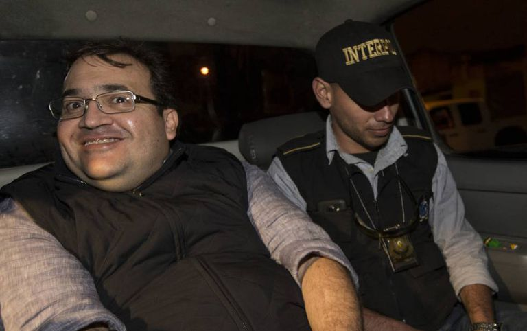 Duarte after his arrest in Guatemala.
