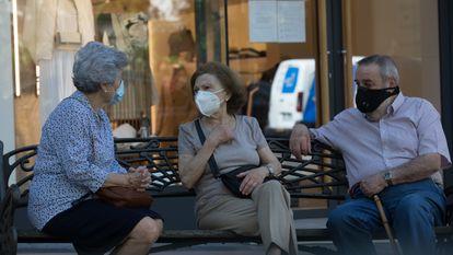 Residents in Madrid, the epicenter of the coronavirus outbreak in Spain.