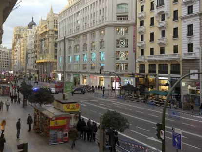 The Gran Vía during one of the days traffic was restricted.