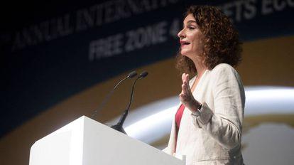 Acting Finance Minister María Jesús Montero.