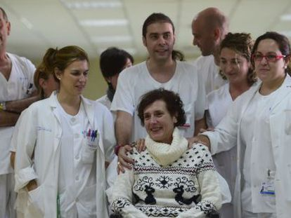 Teresa Romero was discharged from hospital on November 5 after recovering from Ebola.
