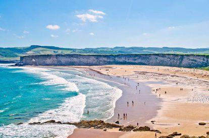 The spectacular beach at Langre, Ribamontán al Mar, Cantabria.