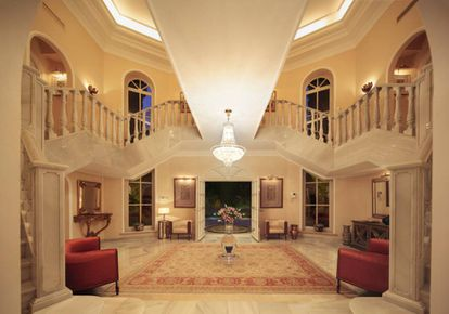 The hallway of Prince's former Marbella home.