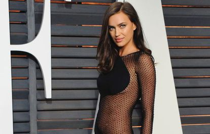Irina Shayk at a 'Vanity Fair' party.