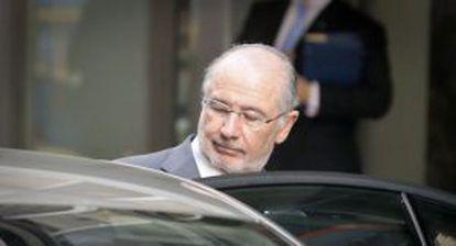 Rodrigo Rato after his court testimony over the Caja Madrid credit cards.