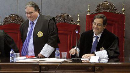 Judge Luis Ángel Garrido Bengoechea at the Basque Country's regional High Court in a 2010 photo.