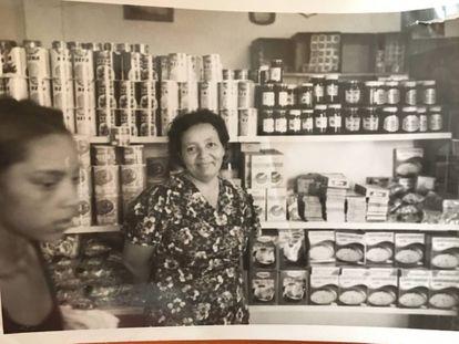 Blanca in the days she ran a supermarket in Venezuela.