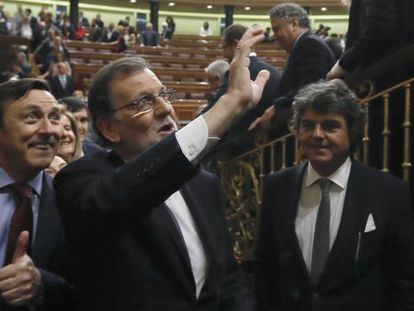 Mariano Rajoy after being voted back in as Spain's prime minister.