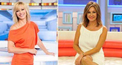 Susanna Griso (left), host of Espejo Público and Ana Rosa Quintana, who has her own show.