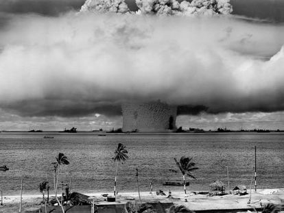 The atomic bombs tested in the middle of the 20th century mark the beginning of the Anthropocene.