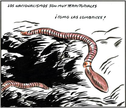 - Nationalists are very territorial... like worms!