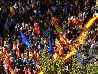 The demonstration in Barcelona on Sunday in favor of the unity of Spain.