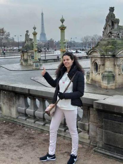 Photo of Laura Sanz Nombela taken this weekend in Paris.